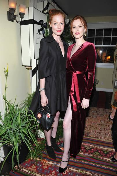 Jessica Joffe and Karen Elson