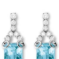 Blue topaz earrings, £8,960, Gucci