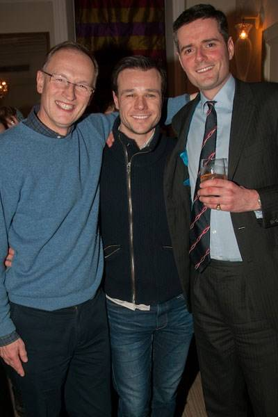 Alastair Bruce, Rupert Evans and Stephen Knott