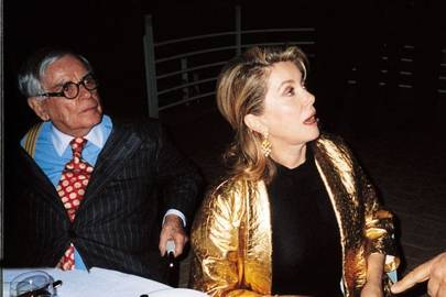 Dominick Dunne and Catherine Deneuve