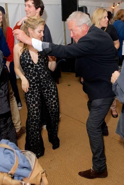 Lisa Dwan and Simon Schama
