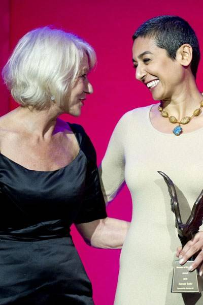Dame Helen Mirren and Zainab Salbi