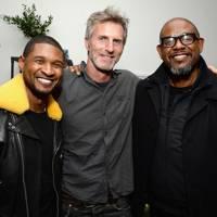 Usher, Andrew Heckler and Forest Whitaker