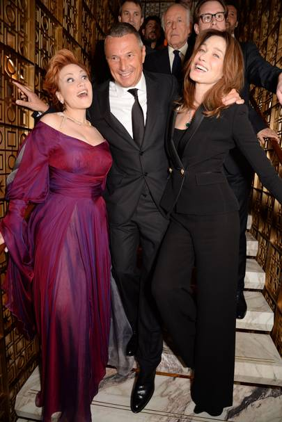 Carmen Giannattasio, Jean Christophe Babin and Carla Bruni