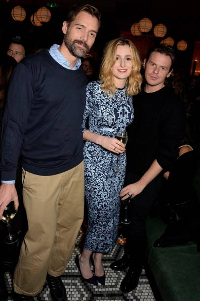 Patrick Grant, Laura Carmichael and Christopher Kane