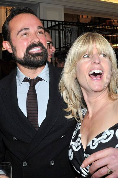 Evgeny Lebedev and Rachel Johnson