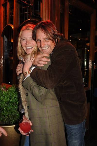 Jodie Kidd and Andrea Vianini