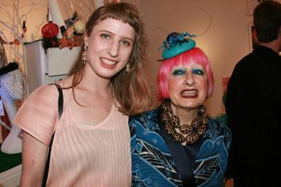 Kitty Joseph and Zandra Rhodes