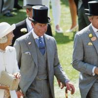 Mrs Geoffrey Kent, the Prince of Wales and Geoffrey Kent