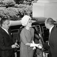 Prince Rainier and Princess Grace of Monaco at the White House, 1961