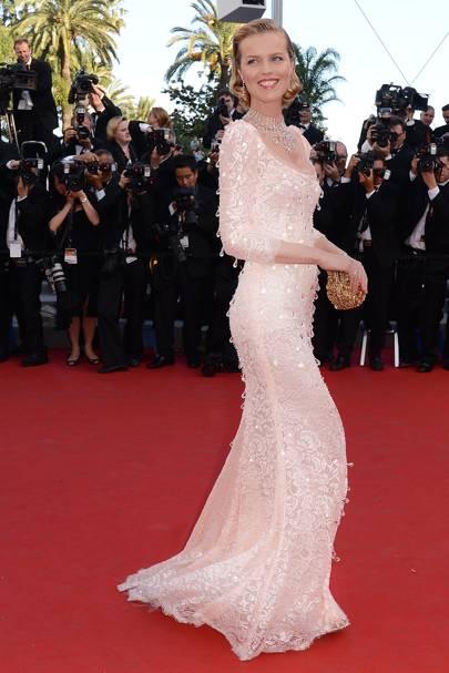 Eva Herzigova wearing Dolce & Gabbana in 2012