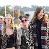 Mary Charteris, Jaime Winstone and Alexa Chung