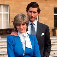Prince Charles and Lady Diana's official engagement portrait, 1981