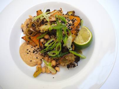 Autumn Recipes: How to make Nina Parker's Roast Autumn Veg with Satay Sauce