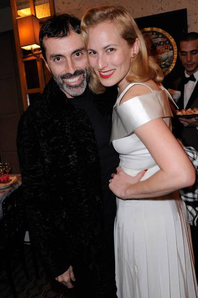 Giambattista Valli and Charlotte Dellal