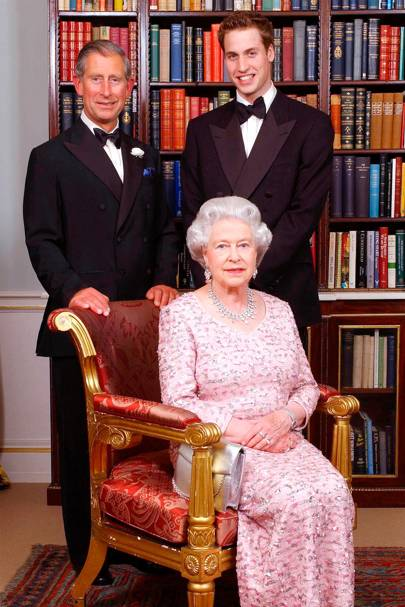 Queen Elizabeth II, the Prince of Wales and Prince William, 2003