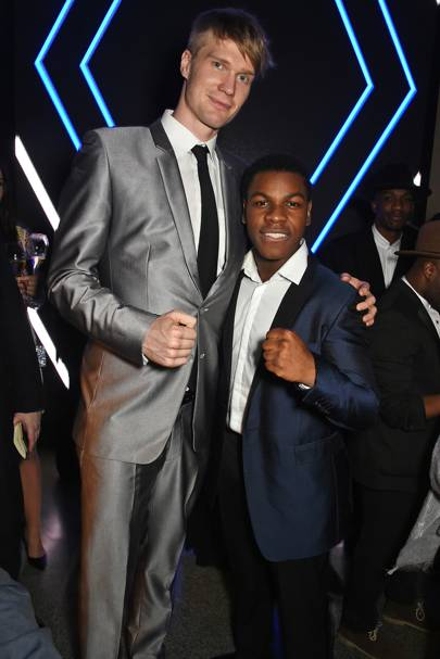 Joonas Suotamo and John Boyega
