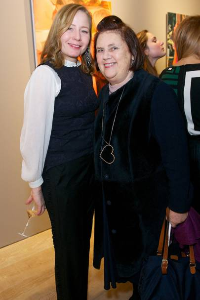 Sarah Mower and Suzy Menkes