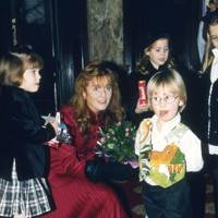 Princess Eugenie, the Duchess of York, Princess Beatrice and Hayden Elliot