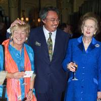 Carol Thatcher, Sir David Tang and Baroness Thatcher, 1997