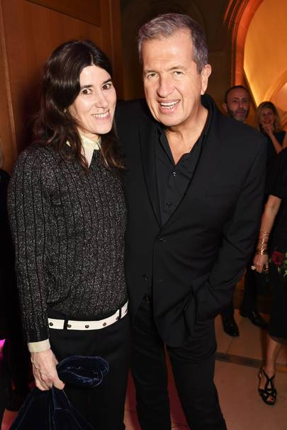 Bella Freud and Mario Testino