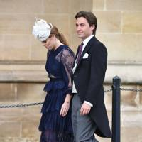 Princess Beatrice and Edoardo Mapelli Mozzi at Lady Gabriella Windsor and Thomas Kingston's wedding, May 2019