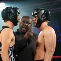 Hamish Ross, Freddie Osei and Jamie Laing