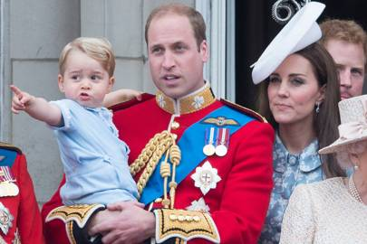 The Duke of Cambridge, The Duchess of Cambridge and Prince George