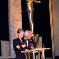 1992 - Collecting his CFDA Lifetime Achievement Award