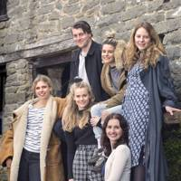 Tara Postma, Hugo Nicholson, Cressida Bonas, Zoe Stevens, Zena Carswell and Florence Keith-Roach