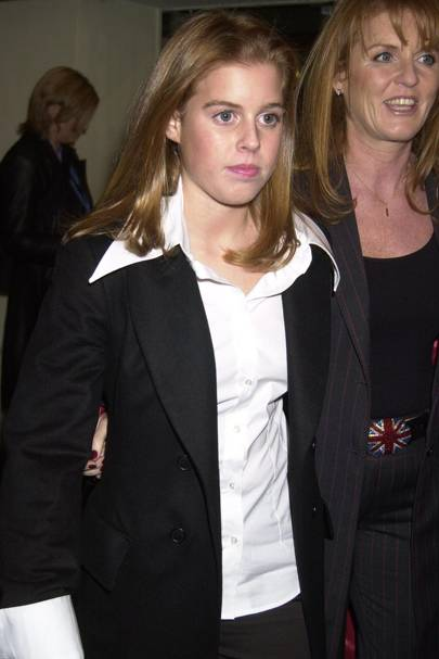 Princess Beatrice at the Harry Potter premiere in 2004, aged 16