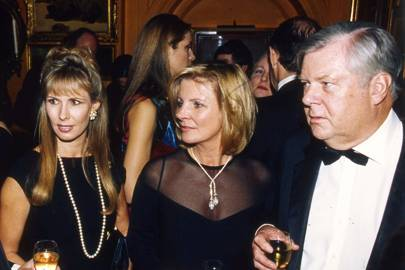 Mrs Robert Sangster, Georgina Bronfman and Charles Benson