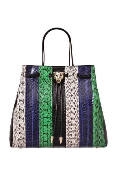 Python bag, £1,120, by Roberto Cavalli