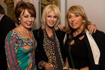 Kathy Lette, Joanna Lumley and Eve Pollard