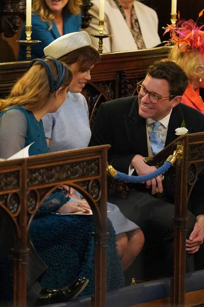 Princess Beatrice, Princess Eugenie and Jack Brooksbank