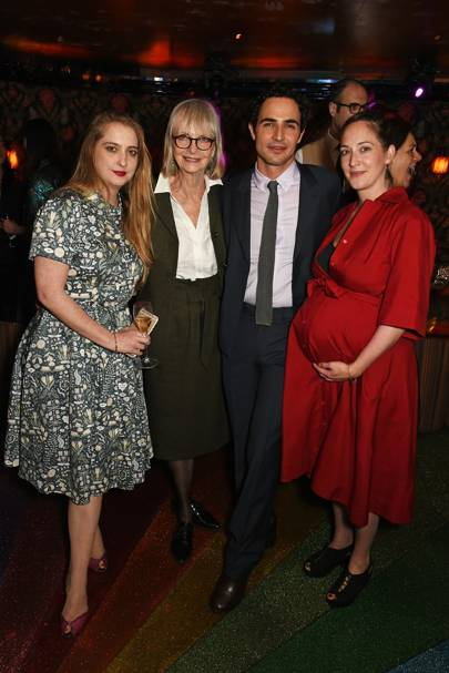 Daisy de Villeneuve, Jan de Villeneuve, Zac Posen and Poppy de Villeneuve