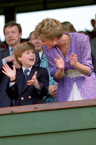 Prince William and the Princess of Wales, 1991