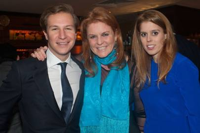 Dave Clark, Sarah, Duchess of York and Princess Beatrice