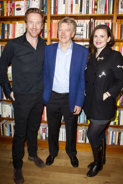 Damian Lewis, Ken Rea and Hayley Atwell