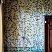 18th-century Chinese wallpaper in the Drawing Room