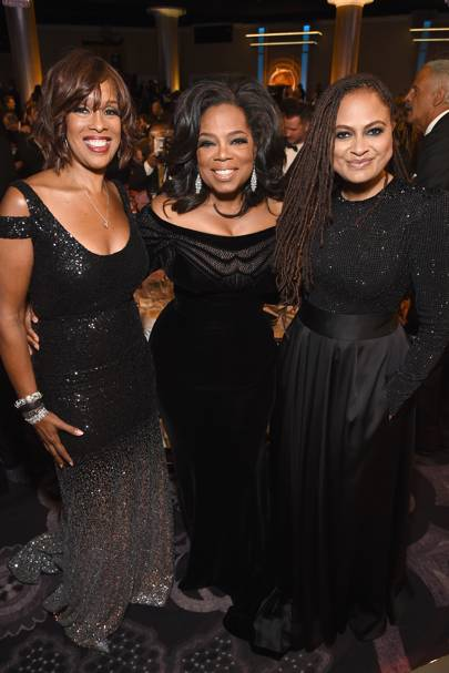 Gayle King, Oprah Winfrey and Ava DuVernay