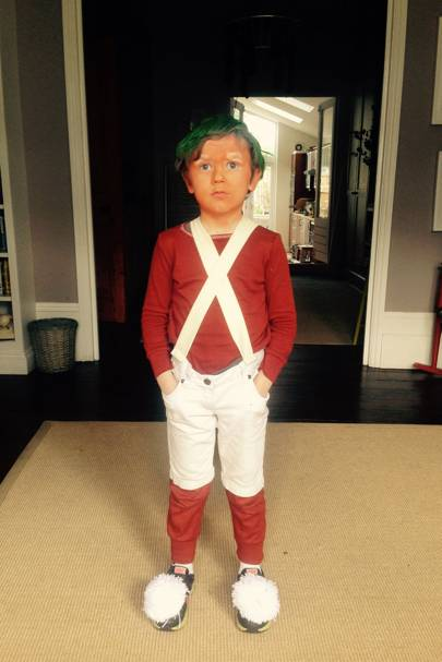 Harvey Benton-Hugh as an Oompa Loompa from 'Charlie and the Chocolate Factory'
