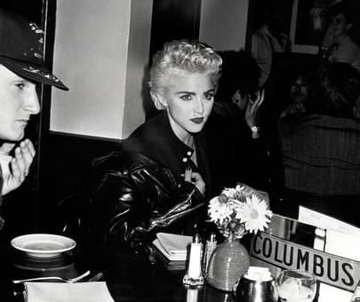 Dining at Elaine's restautant, 1984