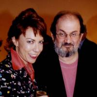 Kathy Lette and Salman Rushdie