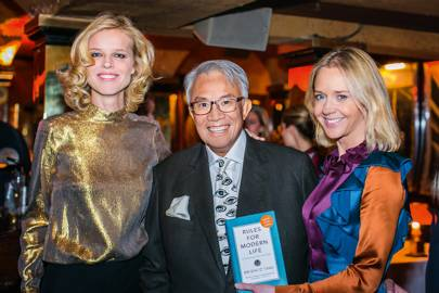 Eva Herzigova, Sir David Tang and Kate Reardon