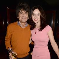 Ronnie Wood and Sally Humphries