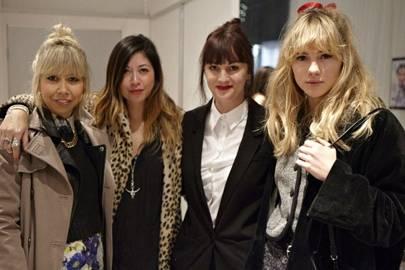 Samantha Penman, Emily Yeoh, Teresa Tarmey and Suki Waterhouse