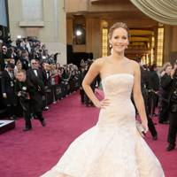 Jennifer Lawrence wearing Dior in 2013