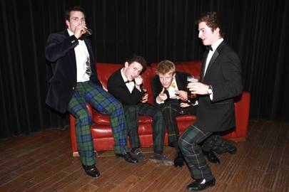 Harry Callander, Hugh Rettie, Harry Gobourn and Stirling Fenton