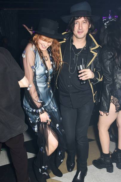 Florence Welch and Carl Barat